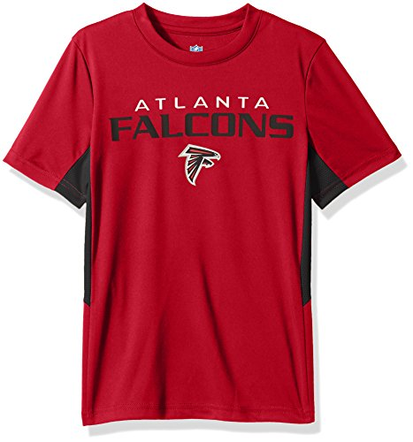 Youth Short Sleeve Atlanta Falcons (OuterStuff NFL Boys 4-7 Mainframe Short Sleeve Performance Tee-Crimson-S(4), Atlanta Falcons)