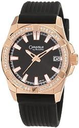 Caravelle by Bulova Men's 44B103 Crystal Strap Watch