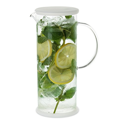 FORLIFE LUCENT Glass Iced Tea Jug with Capsule Infuser, 48-Ounce, Frost by FORLIFE (Image #6)