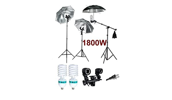 Socket and Stand Ardinbir Studio 1800W Photo Umbrella Boom kit with Continuous Light