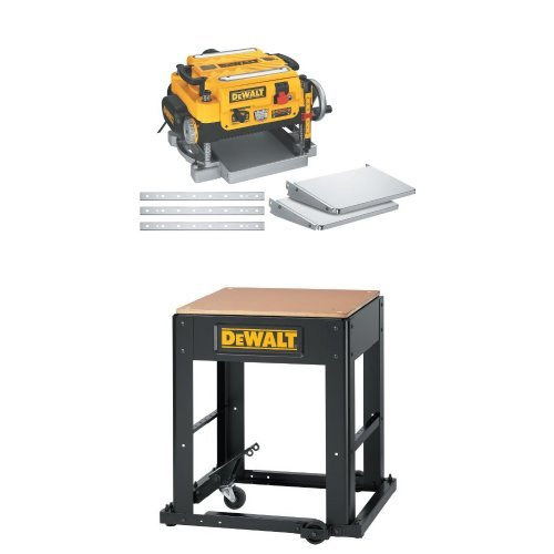 DEWALT DW735X 13 inch Two-Speed Planer Package with DW7350 Planer Stand with Integrated Mobile Base