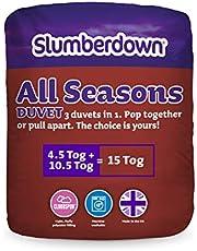 Slumberdown All Seasons 3-in-1 15 Tog Combi Duvet, White, King Size