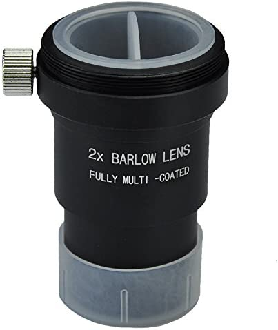 """Gosky 1.25"""" Moon Filter & 2X Barlow Kit for Telescope Eyepieces"""