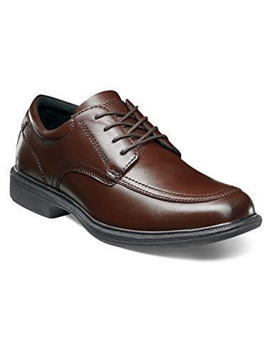 (Nunn Bush Bourbon St Moc Toe Lace Up Men's Oxford 14 3E US Brown)