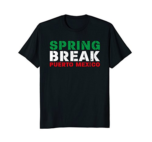 Spring Break Puerto Mexico Mexican Flag Party T-Shirt