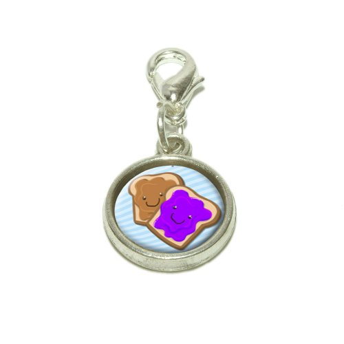 Made On Terra Peanut Butter Jelly Dangling Bracelet Pendant Charm
