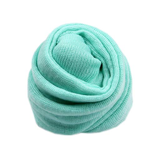 Newborn Baby Photo Props Blanket Stretch Knitted Wrap Swaddle for Boy Girls Photography Shoot (Light Green)