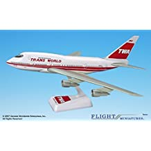 TWA (74-95) Boeing 747SP Airplane Miniature Model Plastic Snap Fit 1:200 Part# ABO-747SPH-004