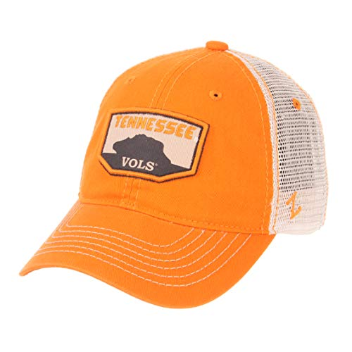 Zephyr NCAA Tennessee Volunteers Men's Trademark Relaxed Cap, Adjustable, Washed Team/White