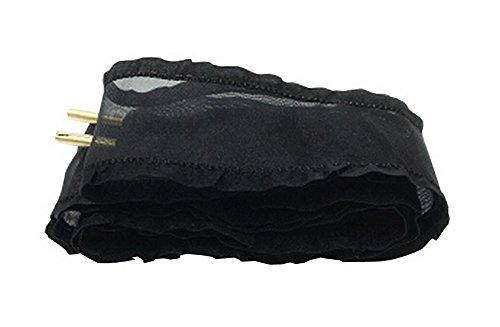 Set de 2 cordones de terciopelo cordones cordones de zapatos de moda 120 cm [Negro] multicolor 19