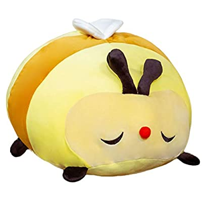 PP Cotton Fuzzy Bumblebee Plush Bee Body Pillow, Buzzy The Honey Bee Stuffed Animal Toy, 19.7Inch Yellow Fat Cuddle Bee Plushie Kids Gifts: Home & Kitchen