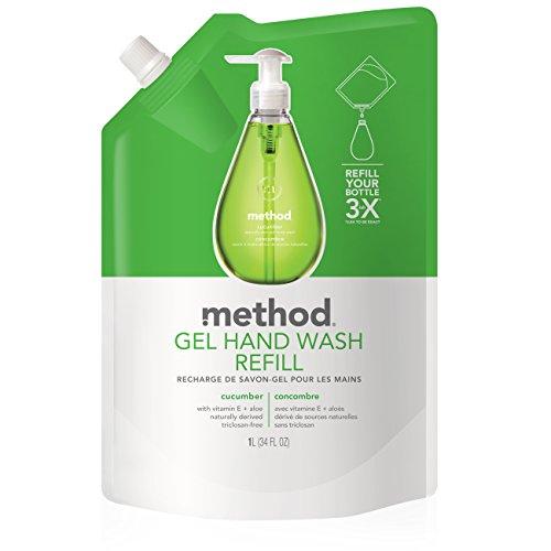 - Method Gel Hand Soap Refill, Cucumber, 34 Ounce