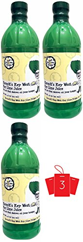 Kermit's Double Strength Key Lime - Juice 3 pack / 16 oz plastic bottles (like getting 96 OZ) - 100% Natural Florida Key Lime Juice w/ our Award winning Key (Floridas Natural Fruit Juice)
