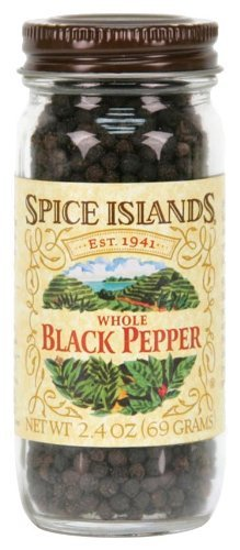 (Spice Islands Whole Black Pepper (Peppercorns), 2.4-Ounce (Pack of 3) by Island Spice)