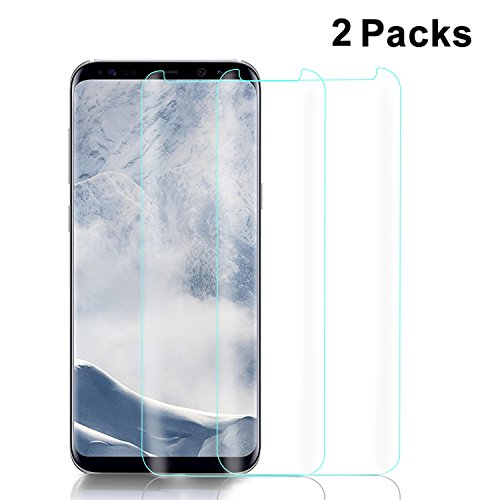 Price comparison product image Samsung Galaxy S8 Screen Protector(2-Pack,Case Friendly),[Full Coverage][HD Clear][Anti-Bubble][Anti-Scratch][Touch Agile][3D Glass]Tempered Screen Protector Film for Samsung Galaxy S8