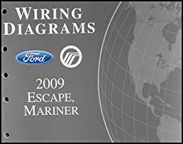 2009 ford escape mercury mariner wiring diagram manual original rh amazon com 2009 ford escape tail light wiring diagram 2009 ford escape trailer wiring diagram