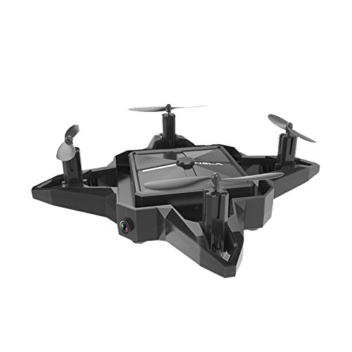 Littleice Nela S11 Selfie Foldabe Mini Drone 2.4G 4CH Altitude Hold With HD Camera WIFI FPV Remote Control RC Quadcopter (black) by Littleice