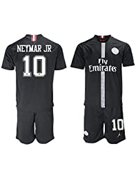 LCX New PSG Neymar JR #10 Home Black Kids/Youth Soccer Jersey 2018/2019