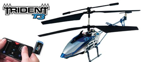Interactive Toy Trident T3 Smart Device Helicopter with 3 Channel Control