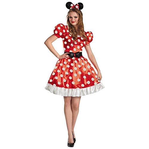 Minnie Mouse Classic Red Women's Adult Disney Dress Costume (M)