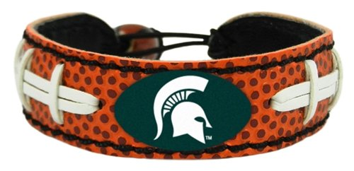 NCAA Michigan State Spartans Classic Football Bracelet (State Classic Bracelet Football)