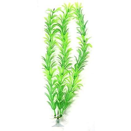 eDealMax Plantas 10 Pedazo Verde de la hierba acuario ornamento Con Sucker Base
