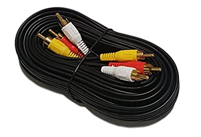 iMBAPrice® RCA M/Mx3 Audio/Video Cable Gold Plated - Audio Video RCA Cable from iMBAPrice