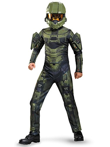 HALO Master Chief Classic Boys Child Kids Costume + Coolie (S) ()
