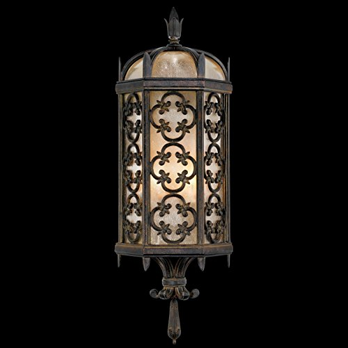 Fine Art Lamps 329681, Costa del Sol Outdoor Wall Pocket Sconce Lighting, 120 Total Watts, Iron (Arts Watts)