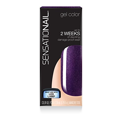 Sensationail Color Gel Polish - Purple Orchid -