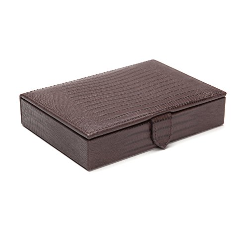 WOLF 305395 Blake Cufflink Box, Brown