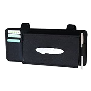 Fashion Car Styling Case Sun Visor Type Wool Felt Hanging Tissue Box Car Napkin Holder Vehicle Accessories Pocket Organizer Pouch Card Storage