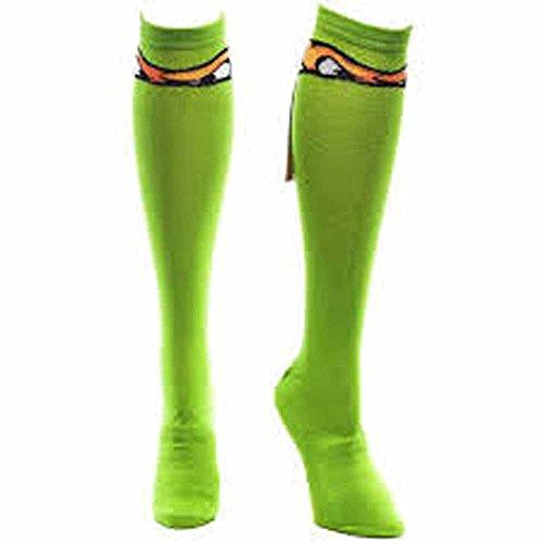 Teenage Mutant Ninja Turtles Knee High Socks With Ribbon Michelangelo -