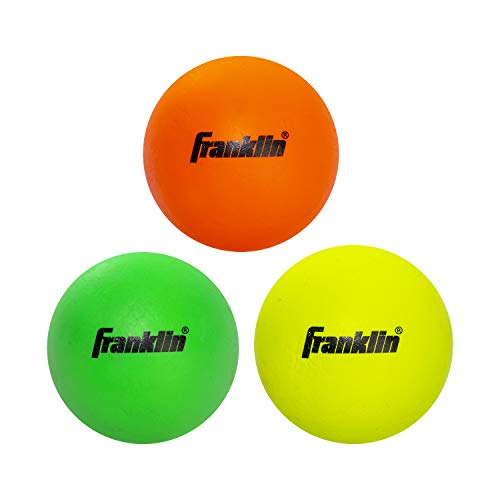 Franklin Sports Youth Lacrosse Balls - Soft Rubber Lacrosse Balls for Kids - Perfect for Beginners - Indoor and Outdoor Use - 3 Pack