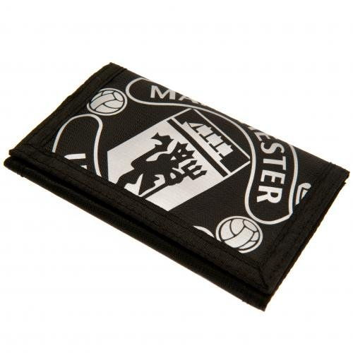 Manchester United FC - Nylon Black Wallet - Official Merchandise by Manchester United