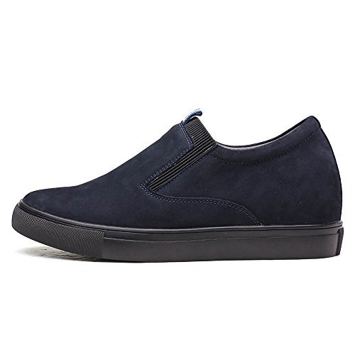 36 for Blue Man Shoes Slip on cm Height 6 Taller Look CHAMARIPA Casual Increasing inches H72C55K111D Shoes Elevator to 2 wBXqgWgHa
