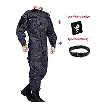 ATAirsoft(TM) Outdoor Camouflage Suit Combat Bdu Uniform Military Uniform Bdu Hunting Suit Wargame Paintball Coat & pants Typhon Kryptek TYP