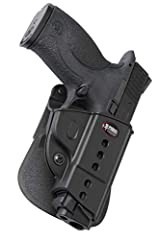 The Evolution Series is a passive retention holster that includes a retention adjustment screw. The tension screw is not pre-set and allows for retention pressure to be adjusted based upon personal preference. When un-holstering, do so in a d...