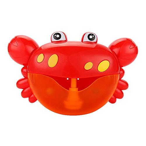 Gessppo Baby Bath Toy Tub Bubble Machine Big Crab Automatic Bubble Maker Blower 9 Music Song Bath Toy