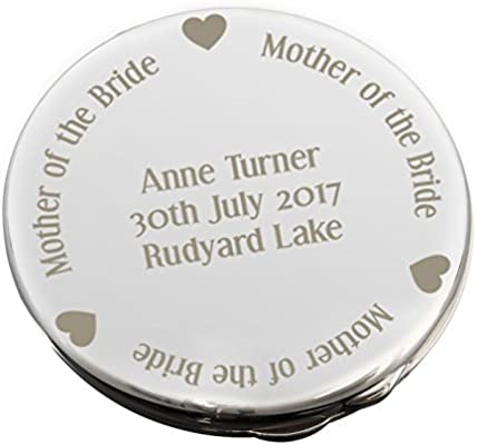 amazon com mother of the bride compact mirror personalised beauty
