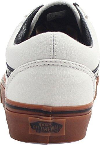 68af25bd58 Galleon - Vans Mens U Old Skool Blank DE Blanc Shoes Black Size 5.5