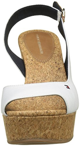 Bianco Donna Stripes Wedge Espadrillas 121 with Hilfiger Printed Tommy Whisper White wqYx670UWw