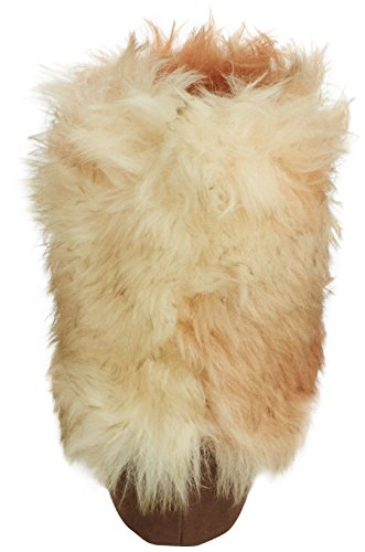 Woolsies Coyote Wool Slipper Booties Damen Hausschuhe Braun (Braun)
