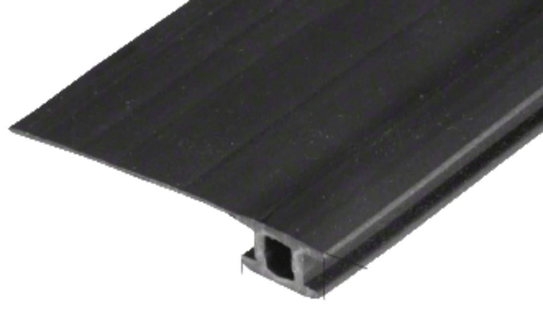 84'' Black Vinyl Adjustable Width Bug Strip, 1-3/4'' Max Width by C.R. Laurence