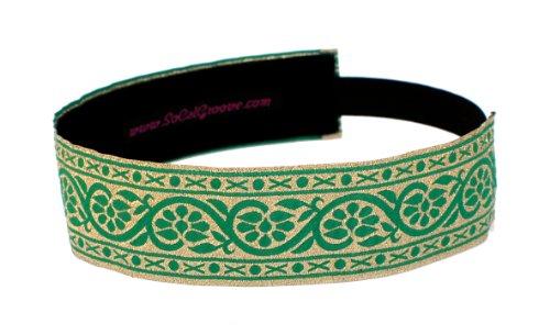 SoCalGroove Grapevine Green Headband 1 1/2