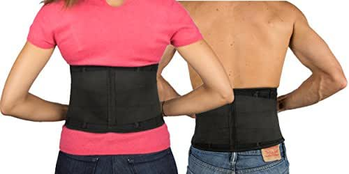 Back Support Brace by Start Smart | Lower Back Support Belt, Helps Relieve Low Back Pain, Sciatica, Scoliosis, Herniated Disc & Degenerative Disc Disease | 3 Sizes