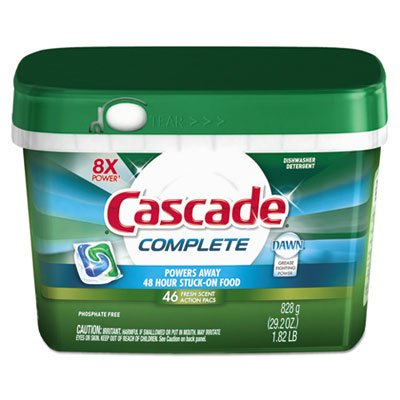 Cascade ActionPacs, Fresh Scent, 22. 5 oz Tub, 43/Tub, 6 Tubs/Carton by Cascade