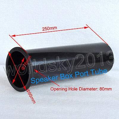 1PCS 80x250mm Subwoofer Woofer Speaker Port Tube Bass Reflex Tube Speaker Vent