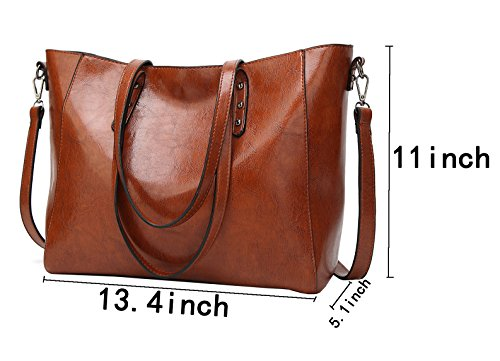 Handbags Shoulder Messenger Obosoyo Women Brown Tote Top Purse Satchel Hobo Lady Bag Handle qx5fPn5TwZ