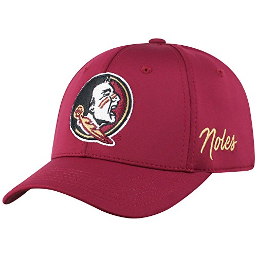Top of the World Florida State Seminoles Men's Fitted Hat Icon, Garnet, One Fit (Seminoles Hats Florida State)